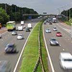 Van driver hogging middle Lane UK