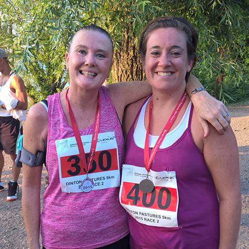 Claire and Moire Running For Charity
